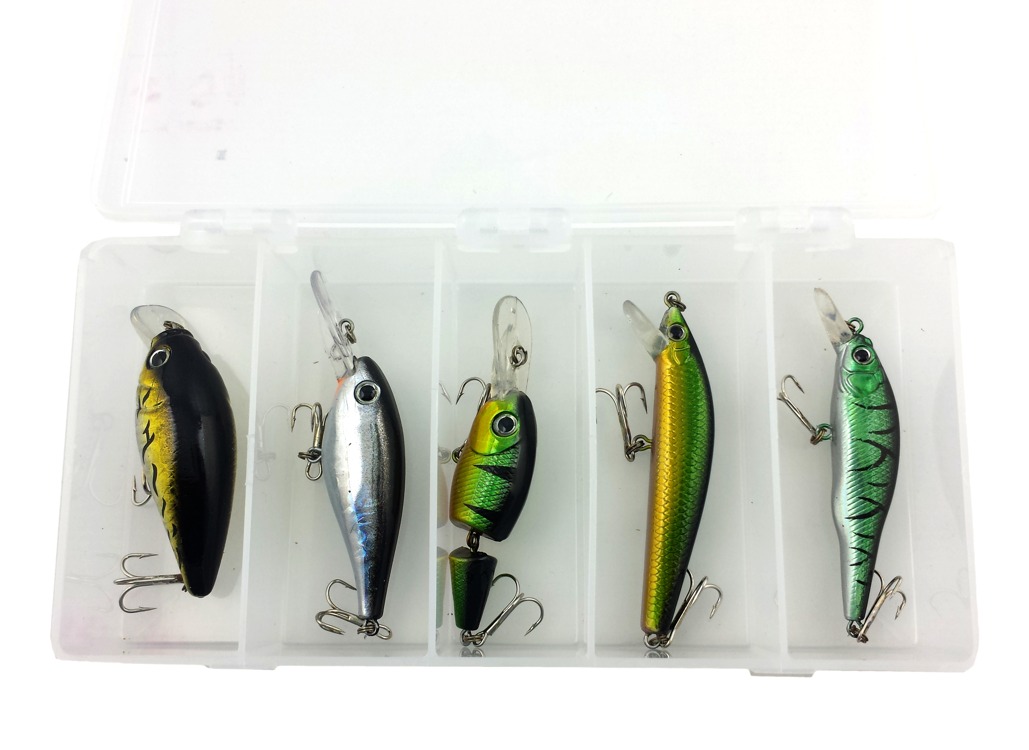 Al 39 s goldfish promotional fishing lures 030 bass walleye kit for Bass fishing lure kits